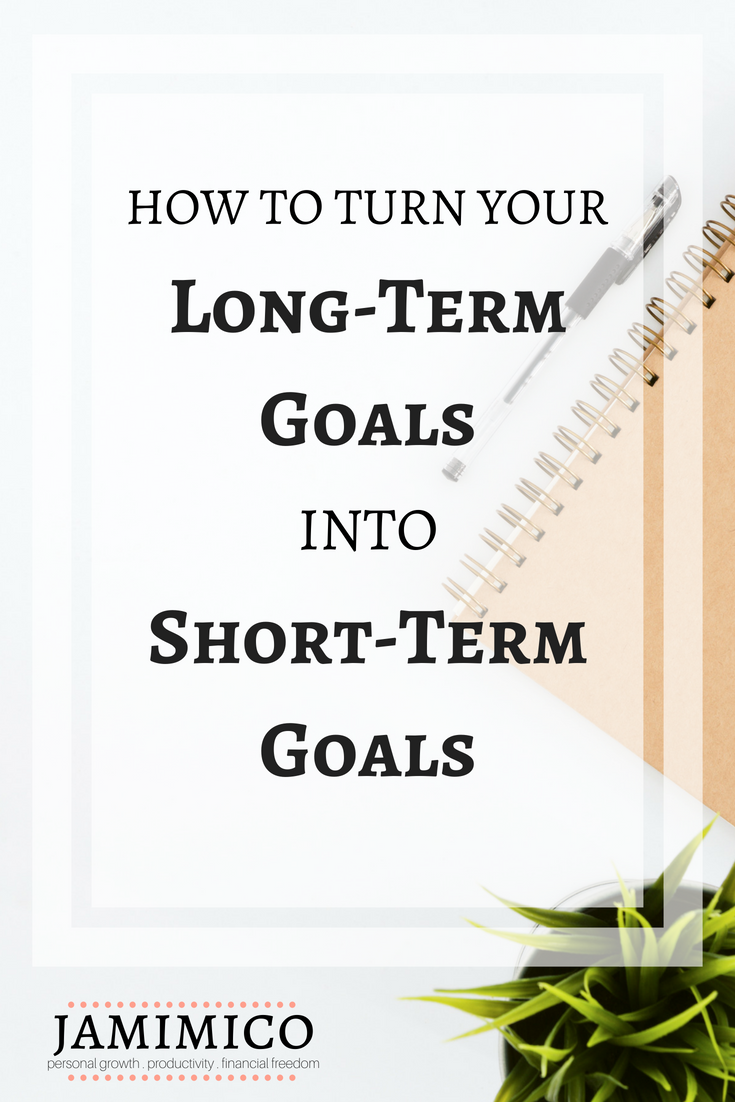 How to Turn Your Long-Term Goals into Short-Term Goals