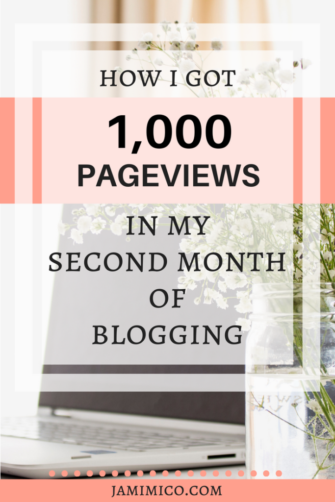 How I Got 1,000 Pageviews in My Second Month of Blogging