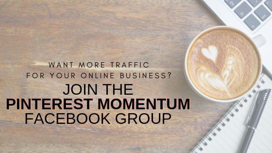 Join Pinterest Momentum Facebook Group Banner 2